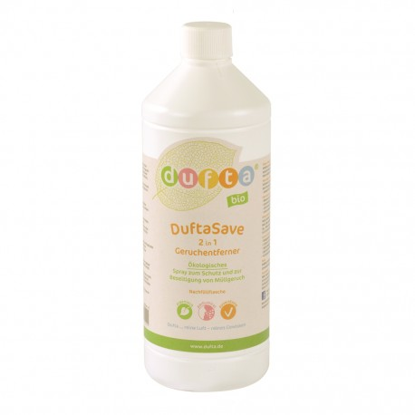 DuftaSave biolīdzeklis atkritumu smakas likvidēšanai.